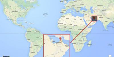 Дубай местоположение на карте мира дубай ночью с самолета